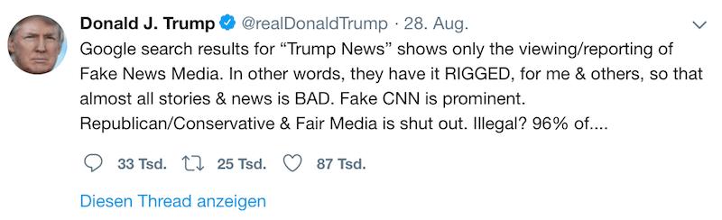 Trump Tweet Screenshot